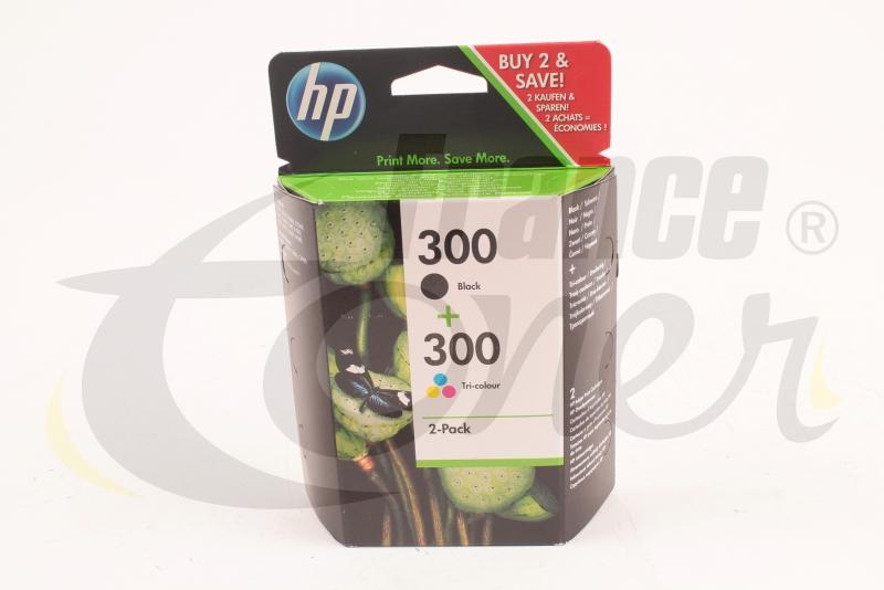 CN637EE   LOT de 2 Cartouches d encre (1 noir + 1 couleur) HP300 (2 x 4ml)  (200 pages + 165 pages) de marque HP pour imprimante HP DESKJET F4280 a9f490ff8da4